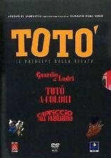 Dvd TOTO' - GUARDIE E LADRI, CAPRICCIO ALL'ITALIANA, TOTO' A COLORI (3 Dvd) .NEW