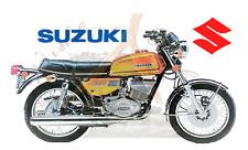 Suzuki GT250 yellow Fridge Magnet