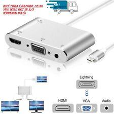 Cable Lightning a HDMI Cable Adaptador De Audio Vga Av Para iPad iPhone 11/XS/XR/8/7