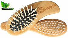 Baby Natural Wooden Hair Brush and Comb Set for Newborns & Toddlers