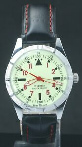 "Refurbished Luminous Dial FHF ST-96 ""Hand Winding"" Men's Luxury Watch Swiss Mvmt"