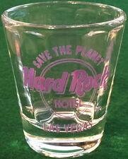 """Hard Rock Hotel LAS VEGAS 2.25"""" Purple SHOT GLASS w/ """"SAVE THE PLANET"""" STP Logo"""