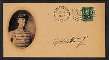 George S Patton VMI Autograph Reprint Envelope WWI Original Period Stamp 109