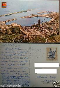 POSTAL DE ALICANTE 1965 VISTA DEL PUERTO AEREA AERIAL POSTCARD POSTKARTE CC03128