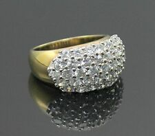 Sterling Silver Cluster Ring Size 7.25 Dazzling White Topaz Accent Gold Plated