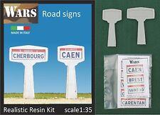 WARS Etichette per cartelli stradali Adhesive paper route signs 1//35