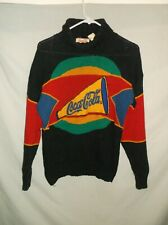 VTG Women's COCACOLA sweater turtleneck ASIS College style Coke shirt