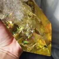 Rainbow! Huge Natural Citrine Quartz Crystal Smoky Transparent Point Healing