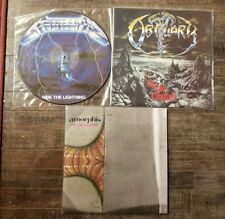 HEAVY METAL 3 LP lot Metallica picture disc Obituary Amorphis colored vinyl