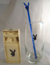 PLAYBOY BUNNY LOT INCLUDING GLASS TUMBLER, SWIZZLE STICK AND SOAP ON A ROPE