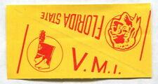 1961 NU-CARDS FOOTBALL PENNANT FLORIDA STATE & VMI