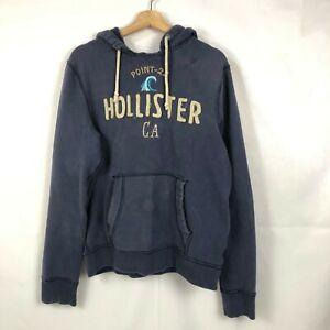 Hollister Men's Pullover Hoodie Sweatshirt Blue Size Large