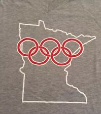 Minneapolis Minnesota Winter Olympics 2012 Bid Humor Joke RARE Lg V-neck T-shirt