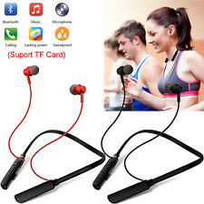 Bluetooth Headset Headphone Wireless Sports Stereo Earbuds TF Card Music Player