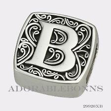 is for Bold Slide Charm 29920Xb Authentic Lori Bonn Bonn Bons Silver B