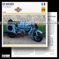 #015.20 Scooter PP ROUSSEY 175 BOL D'OR 1958 Fiche Moto Motorcycle Card
