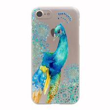 Funda protectora para iPhone 7 plus Soft Cover Case, bumper, protección bolsa motivo slim TPU pavo real