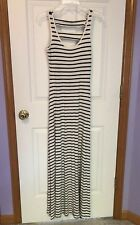 Buffalo David Bitton NWT Black/White Striped Maxi Dress $69+ XS X-Small