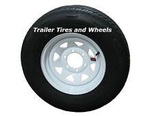 """225/75R15 LRE Rainier ST Radial Trailer Tire on 15"""" 6 Lug White Spoke Wheel"""