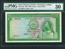 Saint Thomas and Prince:P-40a,1000 Escudos,1964 * Joao De Santarem * PMG VF 30 *