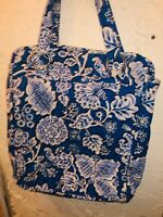 Vera Bradley Perfect Pocket Tote Blue Lagoon Shoulder Book Bag