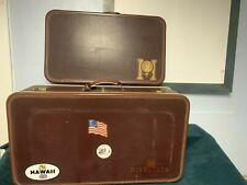 Pair Of Vintage Warren luggage suitcases University of Minnesota Wow!