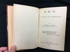 SHE - by H. Rider Haggard - 1887 - 1st U. S. Edition -Harper & Bros.- See Photos