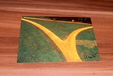 Christo *Wrapped Walk Ways, USA 77-78*, original signed AK/Postcard 10x15 cm