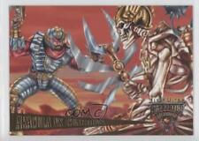 1995 Fleer Ultra Skeleton Warriors #74 Aracula vs Guardian Non-Sports Card 1k3