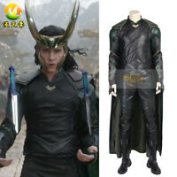 Thor Ragnarok Loki Cosplay Costume Cloak Vest Boots Luxrious Outfit for Men