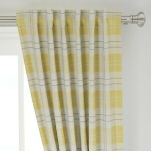 """Rustic Farmhouse Plaid Provence Yellow 50"""" Wide Curtain Panel by Roostery"""