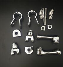 "Chrome Adjustable Peg Kit For Bike with(1.5"")Front Engine Guard Frame Tube Honda"