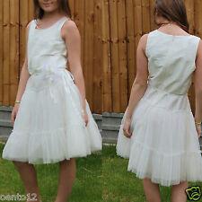 Next Signature Girls Ivory Corsage Bridesmaid Wedding Christening Dress 12 Year