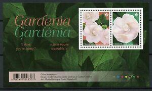 Canada 2019 MNH Gardenia Cape Jasmine 2v S/A M/S Nature Flowers Stamps