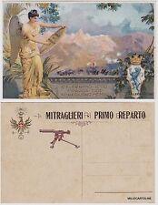 # MILITARI WWI - MITRAGLIERI FIAT BRESCIA CON SOVRAST. NERA MITRAGLIERI 1° REP.