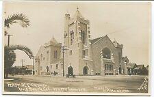 LONG BEACH, CA PHOTO POSTCARD 1st M.E. CHURCH Made by HH Hamilton