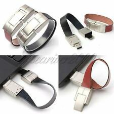 Novelty 8GB USB 2.0 Bracelet Leather Flash Memory Stick Storage Thumb U Disk New