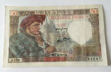 Billet 50 Francs Jacques Cœur 1941