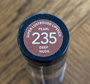 Revlon Super Lustrous Lipstick DEEP NUDE Pearl 235 HTF RARE