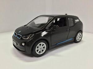 "Brand New 5"" Kinsmart BMW i3 Diecast Model Toy Car 1:32 Pull Action BLACK"