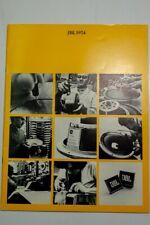 JBL CATALOG 1974 •ORIGINAL•