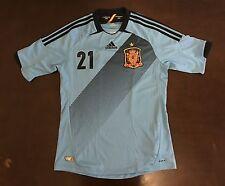 Adidas Spain David Silva Futbol Soccer Jersey