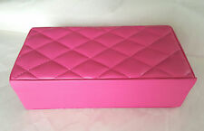 Tuscan Designs Pink Quilted Leather Travel/Stationary Jewelry Box