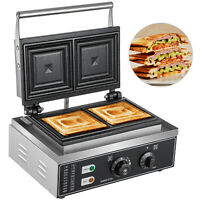 Premium Sandwich Press Toaster Electric Waffle Maker Toast Nonstick 2 Slices