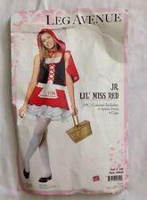 Leg Avenue Lil' Miss Red Junior Teen 2 Piece Halloween Costume Size Jr S/M