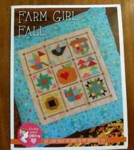 """FARM GIRL FALL""  by Lori Holt - Cross Stitch Pattern + DMC Floss"