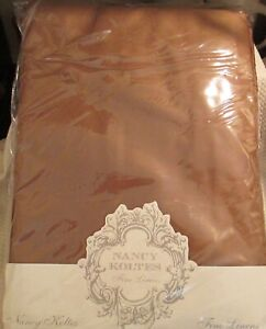 NANCY KOLTES Fine Linens Italy Autumn Sateen, Cinnamon Queen Fitted 550 TC NEW!