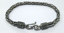 "Bali Chain Byzantine Bracelet 8.5"" 925 Sterling Silver 4 mm"