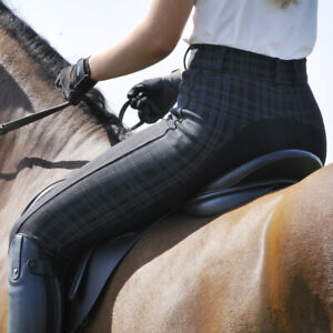 Ladies Essential Check Breeches - Black only £17.50