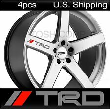 4 TRD Stickers Decals Tacoma Wheels Rims Toyota Sport Racing camry SILVER